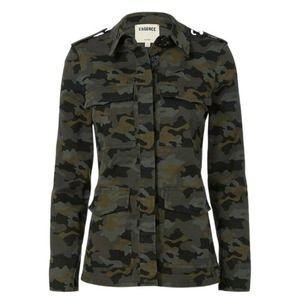 L'AGENCE Cromwell Camo Twill Utility Jacket